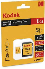 Памет 8GB Kodak microSDHC UHS-I U1