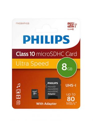 Памет 8GB Philips MicroSDHS card