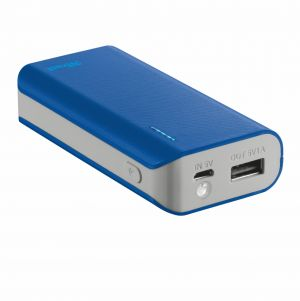 Външна батерия, TRUST Primo Power Bank 4400 Portable Charger - blue